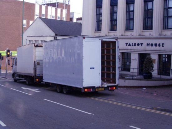 Nottingham Removals Van and Trailer